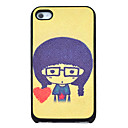 Cute Girl Heart Pattern Hard Case for iPhone 4/4S