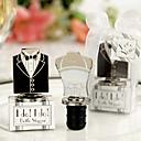 Wedding Favor Bride & Groom Dress Design Wine Bottle Stopper (2pcs)