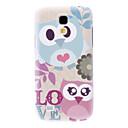 Matte Style Love Cartoon Design Owl Pattern Durable Hard Case for Samsung Galaxy S4 Mini I9190