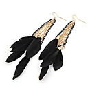 Earring Wings/Feather Drop Earrings Jewelry Women Party / Daily Alloy Black