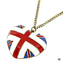 Heart America Flag Shape Necklace(Assorted Color)