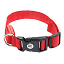 """Adjustable Pure Color Red Collar with LED Lights for Pets Dogs (Assorted Sizes, 40-48cm/15.74-18.89"""")"""