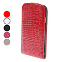 Flip-Open Design Noble Alligator Grain Leather Case for Samsung Galaxy S4 I9500 (Assorted Colors)