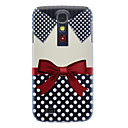 Matte Style Bowknot Shirt Pattern Durable Hard Case for Samsung Galaxy S4 I9500