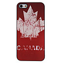 Vintage Flag of Canada Pattern Aluminum Hard Case for iPhone 5/5S