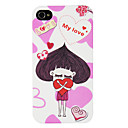 Luxurious Swarovski Diamond-encrusted in Love Onion Girl Pattern IML Technology PC Hard Case for iPhone 4/4S