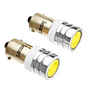 2xWhite Color BA9S 1D 1W LED Interior Reading Bulb Car Door Signal Light  (12V)