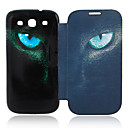 Cat Eyes Leather Case for Samsung Galaxy S3 I9300