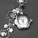 Women's Flower Shape Dial Flower Pattern Bracelet Watch