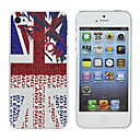 White British Flag Pattern Hard Case Cover for iPhone 4/4S