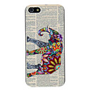 Relief Designed Colorful Elephant Pattern PC Hard Case for iPhone 5/5S