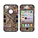 Pine Tree Pattern Защитный силиконовый чехол для iPhone 4 / 4S (разных цветов)