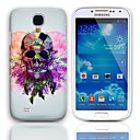 Feather Skull Pattern Hard Case with 3-Pack Screen Protectors for Samsung Galaxy S4 mini I9190
