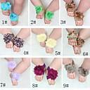 BaoGuangHot Детские девушки Barefoot Сандалии Цветочный Prewalker Младенческая малышей Обувь для ног Связи №6 (Assoeted цвета)