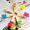 Красочный шаблон Cat Небольшой деревянный Clip (7 шт)