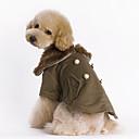 Dog Coat Brown Dog Clothes Winter Solid Fashion / Keep Warm