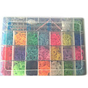 Rainbow Colorful Loom(3200 Pcs Bands、Shelf、10 Hooks、48 S Or C Clips、10 Pandents、Instructions)