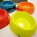 Colorful Pet Bowl for Dogs Cats (15x15cm, Random Color)