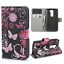 Black Butterflies Pattern PU Leather Wallet Case with Stand and Card Slot for LG G2 MINI