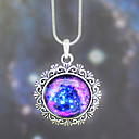 European Galaxy Fashion The Sun Patten Timed Stone Pendant Necklace(1 Pc)