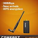 Антенный адаптер Wi-Fi COMFAST CF-WU855P 2,4 300Mbps Mini Wireless 300Mbps USB