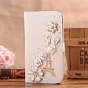 Алмазный железная башня, цветы PU кожаный чехол для всего тела с подставкой и слот для карт Samsung Galaxy S5 I9600