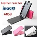 Мода кожа флип чехол для Lenovo A859 вверх и вниз Smartphone 3-цвета