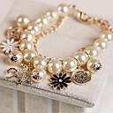 Перлы цветка Заполненные с г-жой браслет