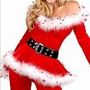 Женская Red White Velvet брюки искусственного меха Тонкий Рождество нескольких часть костюм (для размера М)