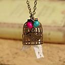 Baoguang Cute Bird в клетке ожерелье, Be Free Ожерелье Птица, Воробей Ожерелье