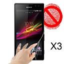 Матовый экран протектор для Sony S39h (3 шт)