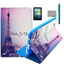 COCO весело слово Effiel башня шаблон искусственная кожа флип Стенд Дело в фильм и стилус для Samsung Galaxy Tab 2 7.0 P3100