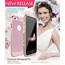 Luphie Алмазный Алюминий Металл бампер с ТПУ Назад Чехол для iPhone 6 Plus (ассорти цветов)