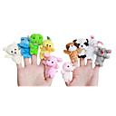 10 Pack Baby животных Finger Куклы Развивающие игрушки (Random Color)
