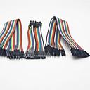 Универсальный между мужчинами / мужчины к женщине / Женский Женский Arduino DuPont Кабели Set - Разноцветные