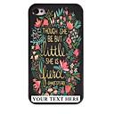 Персонализированные Телефон Дело - Цветок и листья металлическая конструкция чехол для iPhone 4 / 4S