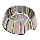 Полоса шаблон из пищевой нержавеющей стали Чаша для домашних животных Собаки