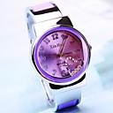 Women's Round Dial Heart Alloy Band Quartz Bracelet Watch (Assorted Colors)