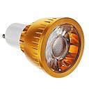 GU10 5W (= инков 40W) CRI> 80 COB 550Lm Теплый белый Холодный белый свет Светодиодные пятно лампы -золото (85-265В)