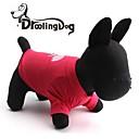 DroolingDog леденец настоящее шаблон Хлопок T-Shirt для собак (ассорти Размеры)