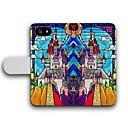 Великолепный замок Pattern PU кожаный чехол для всего тела с слотом для карт iPhone 5 / 5S