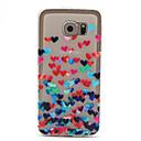 Красочный шаблон сердца Ультратонкий ТПУ Мягкий обложка чехол для Samsung Galaxy S6
