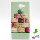 Macarons торт шаблон ТПУ Мягкий чехол с Anti-Dust Разъем и ПОВ по Sony Xperia M2 S50h