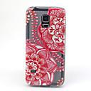 Красный цветок мандалы шаблон ТПУ помощи обложка чехол для Samsung Galaxy S5Mini