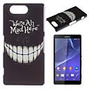Зуб шаблон Окрашенные Материал PC Телефон чехол для Sony Z3 Mini