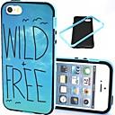 2-в-1 Дикий бесплатно Птица Pattern Вернуться ТПУ с ПК бампер Ударопрочный Мягкий чехол для iPhone 5 / 5S