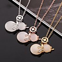 Для женщин Мода Элегантный кулон ожерелья Кристалл Rhinestone Опал Роло цепной тали Подвески моды