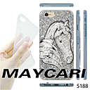 MAYCARI Белая лошадь шаблон прозрачный корпус ТПУ Мягкий чехол для iPhone 6 / 6S