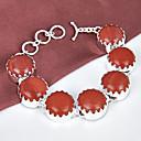 beste prijs brand door brand natuurlijke rode jasper gem 0,925 zilveren kettingen armbanden armbanden voor huwelijksfeest dagelijks 1 pc