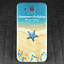 Drill and Summer Beach Pattern PC Back Cover Case for Samsung Galaxy Mega I9152